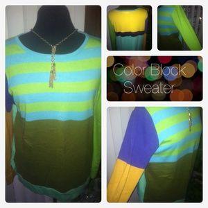 Sweaters - Color Block Sweater